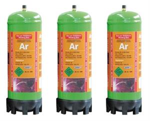 3 x 2,2L Argon gas engangsflaske