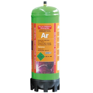 2,2L Argon gas engangsflaske